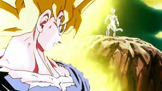 goku turns super saiyan for the first time