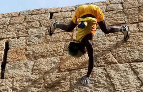 jyothi raj rock climbing
