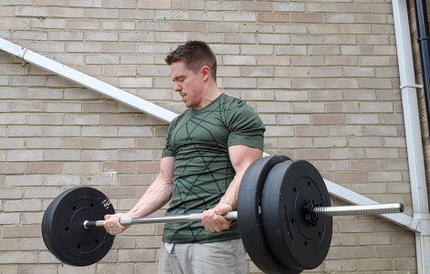 Curling barbell